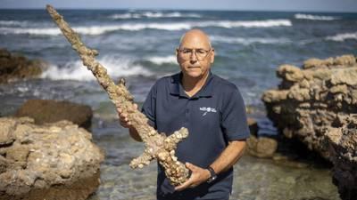 Israeli diver finds 900-year-old sword in Mediterranean Sea